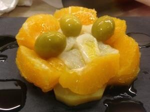 Ensalada patata, bacalao y naranja