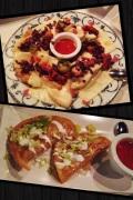 Nachos con queso y carne y Quesadillas