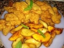 Receta pollo empanado con fruta