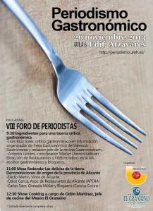 Cartel VIII Foro Periodismo Gastronómico