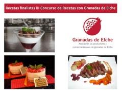 Finalistas III Concurso Recetas Granadas de Elche
