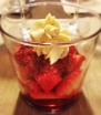 Fresas con frambuesa y mascarpone